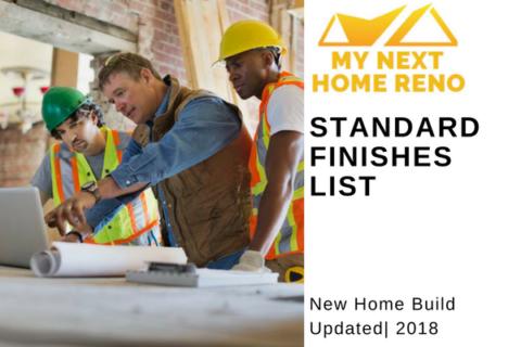 Standard Finishes List